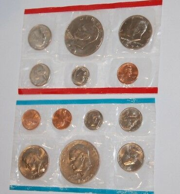 1974 P D S US Mint Uncirculated Coin Set 13 coin set