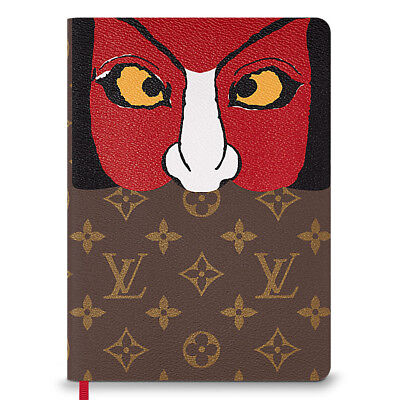 Louis Vuitton Notebook Clemence Monogram Kabuki Stickers NEW