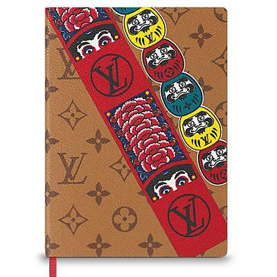 Louis Vuitton Notebook Clemence MONOGRAM REVERSE Kabuki Stickers NEW
