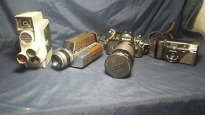 vintage  camera and lenses lot