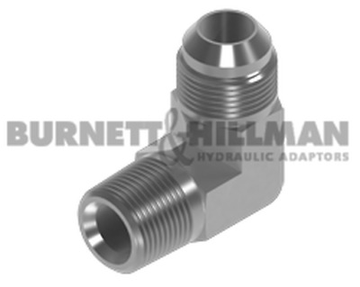 Burnett & Hillman NPTF Male x JIC Male 90° Forged Compact Elbow Adaptor