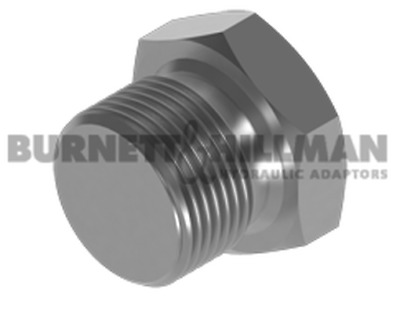 Burnett & Hillman BSP Solid Plug Hydraulic Fitting