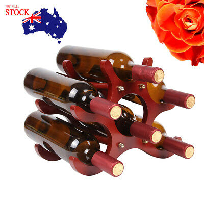 Luxury Butterfly Shape Wooden Wine Rack Unique 6 Bottles Comfortably Stores AU
