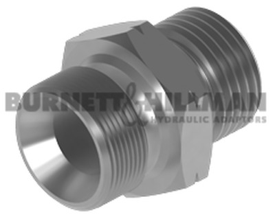 "Burnett & Hillman METRIC M12 Male 1.0mm Pitch x BSP 1/4"" Male Adaptor 