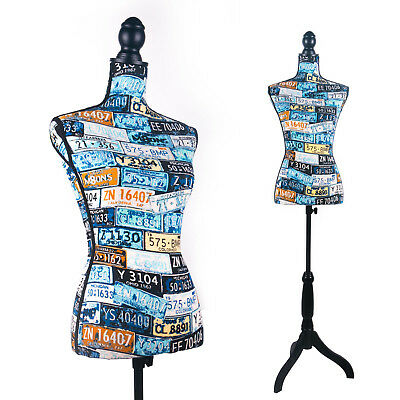 Female Mannequin Torso Dress Form (On Black Tripod Stand)