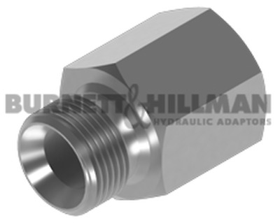 Burnett & Hillman Hydraulic BSP Male x SAE Fixed Female Extended Adaptor | 4-44