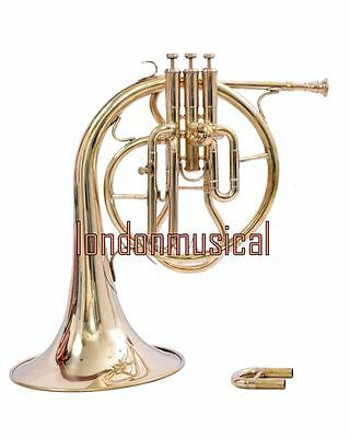 Antique Brass Horn Mellophone Replica Of French Horn Brass Polish With Box