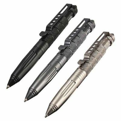 "6"" Portable Aluminum Tactical Kubaton Pen Glass Breaker Escape Survival  3Colors"