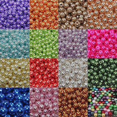 Charm Smooth Czech Glass Pearl Rondelle Spacer Loose Beads Jewelry Making 4-12mm