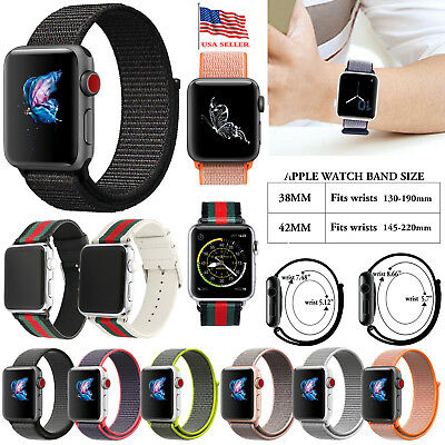 For Apple Watch 38/42mm Sports Woven Loop Bracelet Wrist Replacement Band Strap
