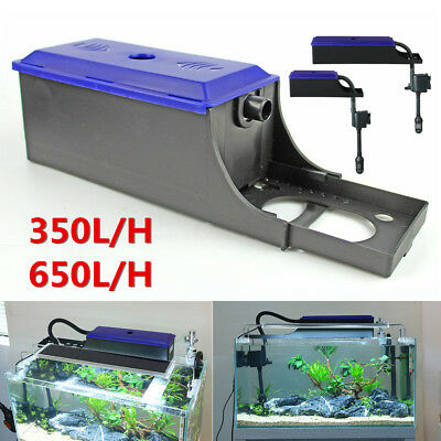 Plastic Aquarium External Water Filter Trickle Upper Box Fish Tank System Pump