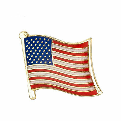 USA FLAG ENAMEL PIN Badge Lapel Brooch Fashion Gift UNITED STATES AMERICA PN5
