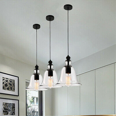 Glass Pendant Light Chandelier Lighting Kitchen Lamp Modern Ceiling Lights 3pcs