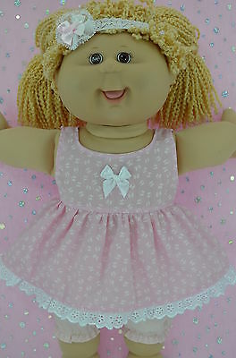 """Play n Wear Doll Clothes For 16"""" Cabbage Patch BUTTERFLY DRESS~BLOOMERS~HEADBAND"""