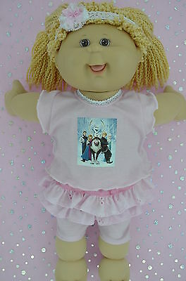 """Play n Wear Doll Clothes For 16""""Cabbage Patch SKIRT/BUILT-IN TIGHTS~TOP~HEADBAND"""