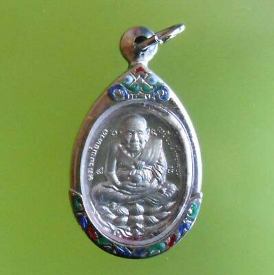 Perfect Lp Tuad Old Thai Real Amulet Pendent Very Rare !!!
