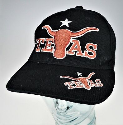 best service e024e 5ee03 TX UT Longhorns Black Cap Hat Lone Star Texas