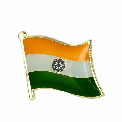 INDIA FLAG Enamel Pin Badge Lapel Brooch Fashion Gift Jewellery Indian PN25