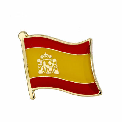 SPAIN FLAG Enamel Pin Badge Lapel Brooch Fashion Gift Jewellery Spainish PN29