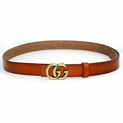 """Womens Genuine Leather Thin Belts For Jeans 0.9 Belt For Womens Pants """"GG"""" New"""