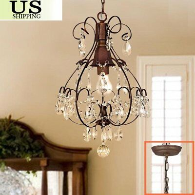 Rustic Crystal Chandelier Ceiling Down Antique Crystal Ceiling Light Pendant VIP