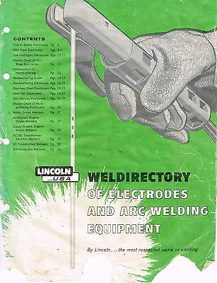 Vintage 1958 Lincoln WELDIRECTORY of ELECTRODES & ARC WELDING EQUIPMENT