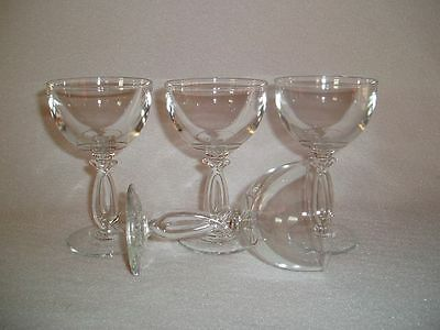 4 Heisey LARIAT 1540 Crystal Pressed Liquor COCKTAIL Goblets Free U.S. Shipping