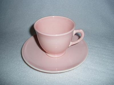 TST LuRay Pastels Pink After Dinner Demitasse Cup & Saucer  Free U.S. Shipping