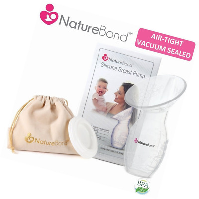 NatureBond Silicone Breastfeeding Manual Breast Suction Pump With Carry Pouch