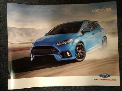 Brand New Un-circulated! Ford Focus RS Brochure 2016 2017 Opens to FULL Poster