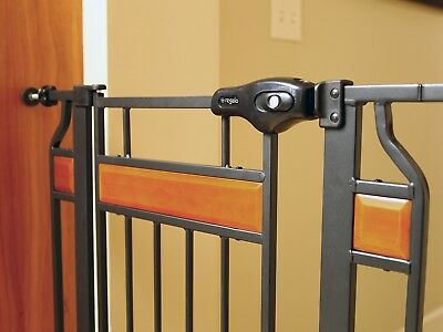Baby Gate Walk Through Stairs Child Infant Pet Dog Extra Tall Door Safety Lock