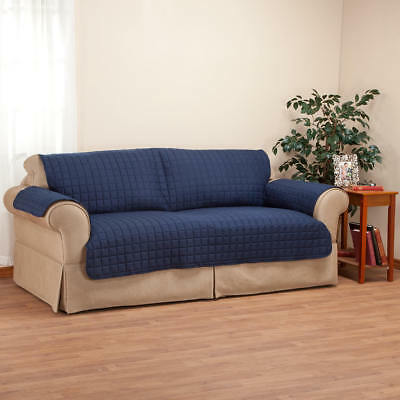 NAVY BLUE LUXURY Sofa Cover Quality Microfiber Furniture ...