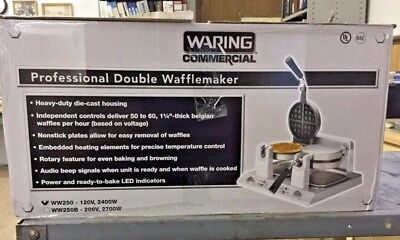 Waring WW250 Dual Double Non-Stick Commercial Waffle Maker  NEW IN BOX