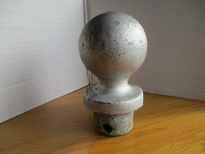 VINTAGE 1940's BALL FENCE CAST ALUMINUM FENCE POST CAP