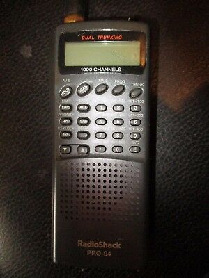 Radio Shack PRO-94 Dual Trunking 1000 Channel Handheld Scanning Receiver