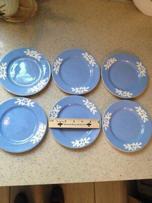 Carv-Craft By Harker - White Rose Small Plates Lot Of 6
