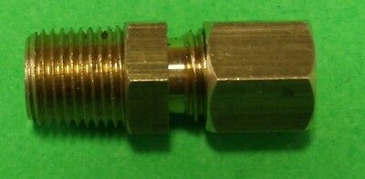 "Ede168420, Wh68X4 1/8"" Male Npt X 1/4"" Compression Fitting Kart Cart Brass"