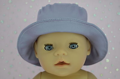 "Play n Wear Doll Clothes To Fit 17"" Baby Born LILAC DRILL SUN HAT"