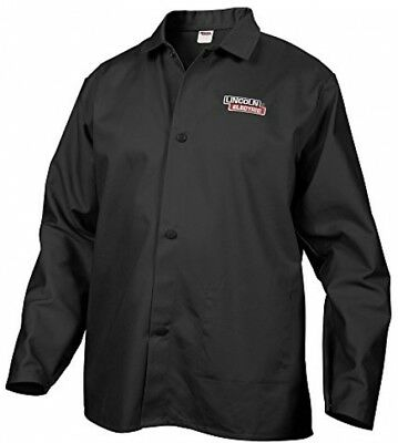 Lincoln Electric Fire Flame Resistant Large Black Cloth Welding Jacket - NO TAX!