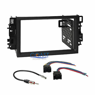 car radio stereo double din dash kit wire harness for 2007-2011 chevrolet  aveo
