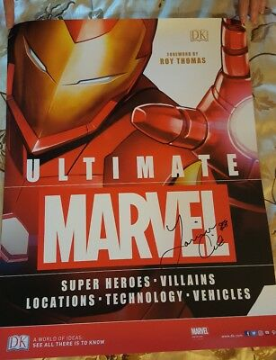 SDCC 2017 exclusive ultimate marvel poster signed by author