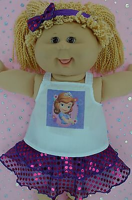 """Play n Wear Doll Clothes For 16"""" Cabbage Patch AZALEA SEQUIN SKIRT~TOP~HEADBAND"""