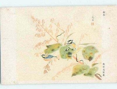 Old Postcard TWO BIRDS ON BRANCH Country Of China F4805