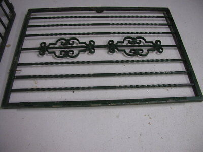 "Decorative Vintage Antique Green Wrought Iron Gate 35.5"" x 37.5"""