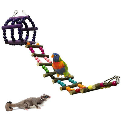 Suspension Bridge Ladder Crawling Cage Toy For Parrot Hamster Ferret Chinchilla
