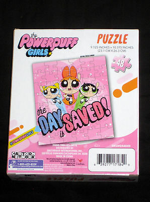 The Powerpuff Girls 48 Piece Puzzle The Day is Saved! Blossom Buttercup Bubbles