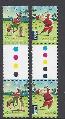 Christmas Island 2017 Christmas Gutter pair of stamps
