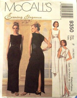 McCall's 9350-Evening Elegance Dress Sewing Pattern-Sizes 16, 18, 20