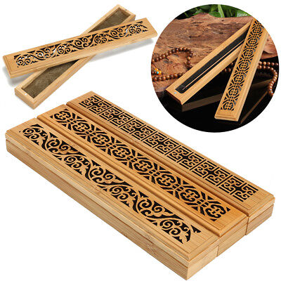 Ancien Handmade Bamboo Incense Holder Burner Joss Box Stick Holder Home Decor