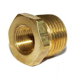 "1x Spark Plug Thread Adaptors Brass 1/2"" Pipe down to 14mm"